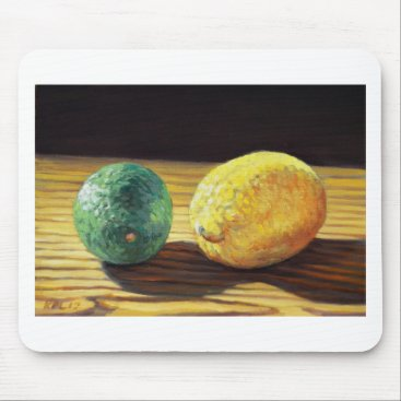 Beach Themed Country Lemon and Lime Mouse Pad