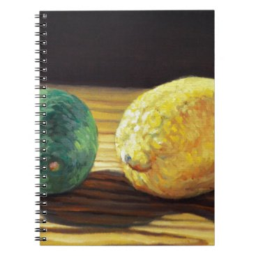 Beach Themed Country Lemon and Lime Notebook