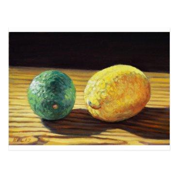 Beach Themed Country Lemon and Lime Postcard