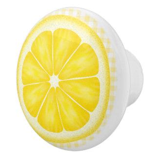 Country Lemon fruit ceramic knob