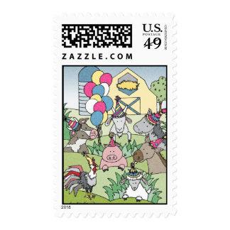 Country Life Birthday Stamp