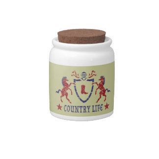 Country Life Candy Jar