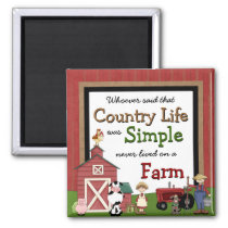 Country Life Kitchen Magnet