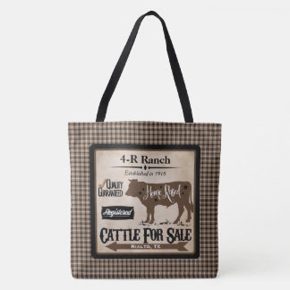 Country Life Ranch-Style Personalized Tote