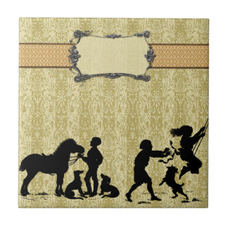Country Life Small Square Tile