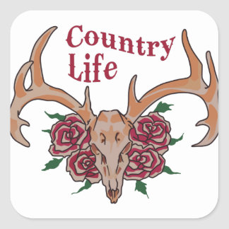 Country Life Square Sticker