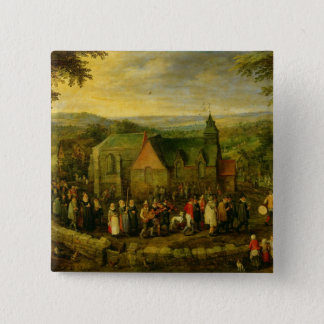 Country Life with a Wedding Scene Button