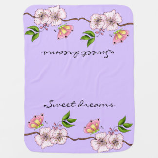 Country Lilac Sweet Dreams Stroller Blanket