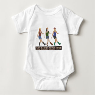 Country Line Dancing Chicks Baby Bodysuit