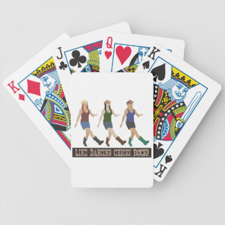 Country Line Dancing Girls Bicycle Playing Cards