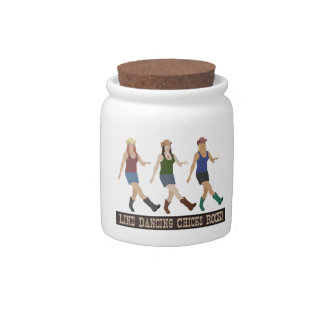 Country Line Dancing Girls Candy Jar