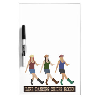 Country Line Dancing Girls Dry Erase Board