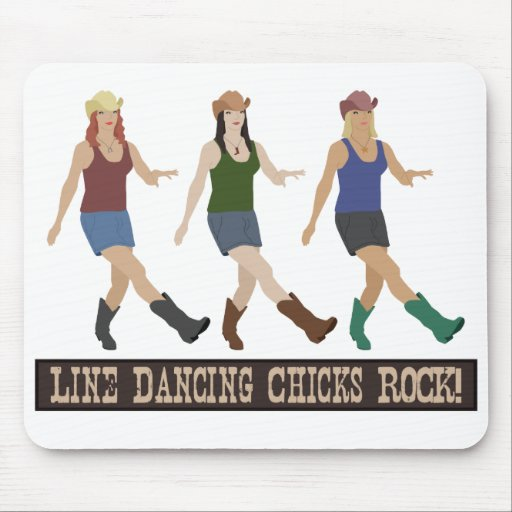 Country Line Dancing Girls Mouse Pad