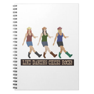 Country Line Dancing Girls Notebook