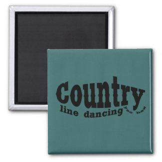 Country line dancing magnets