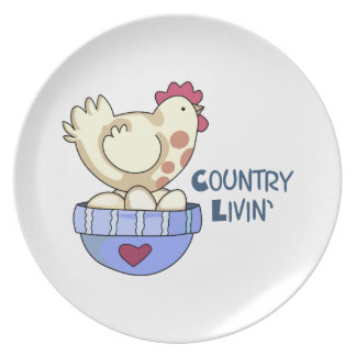 COUNTRY LIVIN HEN PLATE