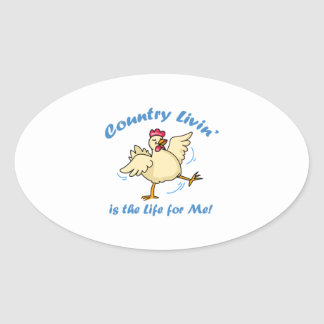 COUNTRY LIVIN OVAL STICKERS