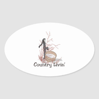 Country Livin Oval Sticker
