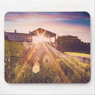 Country Living at Sunset Mouse Pad