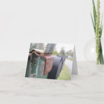Country living photo note card