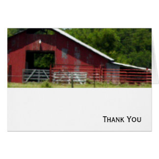 Country Living Red Barn Card