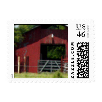 Country Living Red Barn Header Postage Stamp