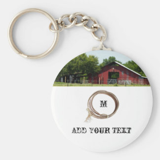 Country Living Red Barn Lasso Keychain