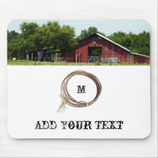 Country Living Red Barn Lasso Mousepad