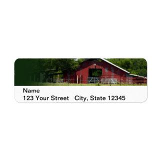 Country Living Red Barn Lasso Return Address Label