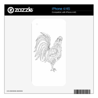 Country Living Rooster iPhone 4S Decal