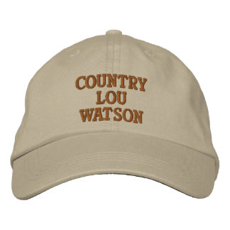 COUNTRY LOU WASTON EMBROIDERED HATS