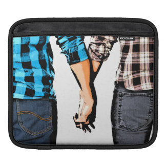 Country Love  Couple Holding Hands iPad Sleeve