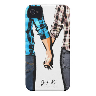 Country Love  Couple Holding Hands iPhone 4 Case