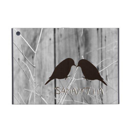 Country Lovebirds Silhouette iPad Mini Cover