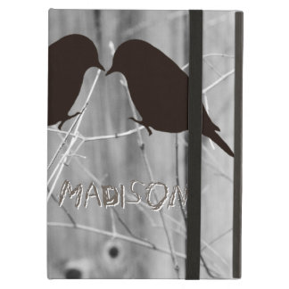 Country Lovebirds Silhouette Ipad Case with Stand