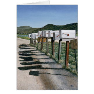 Country Mail Boxes Card