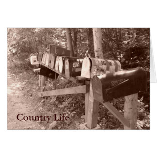 Country Mailbox Card