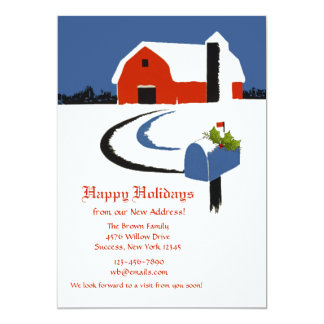 Country Mailbox Holiday Moving Announcement