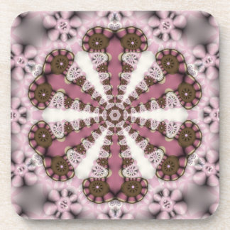Country Mandala Pink Earth : Set of Six Drink Coaster