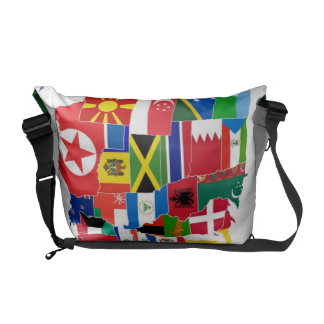 Country Map Messenger Bag
