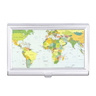 Country Map Vintage Business Card Holder