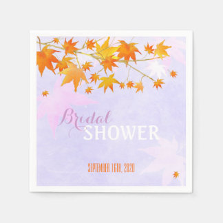 Country Maple Tree Wedding | Bridal Shower Napkins Standard Cocktail Napkin