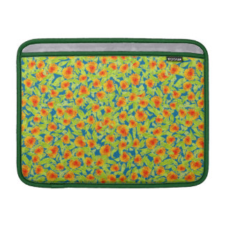 Country Marigolds on Blue MacBook Air Sleeve