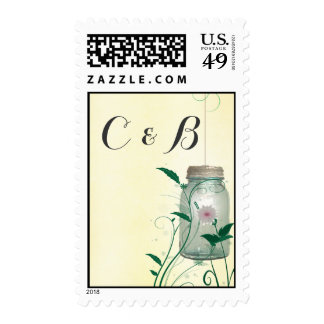 Country Mason Jar design champagne with lights Stamps