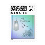 Country Mason Jar design with lights thank you Postage Stamp