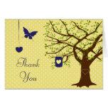 Country Mason Jar Navy and Yellow Thank You Card