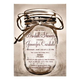 country bridal shower invitations