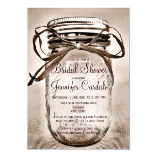 Mason Jar Bridal Shower Invitations Announcements Zazzle