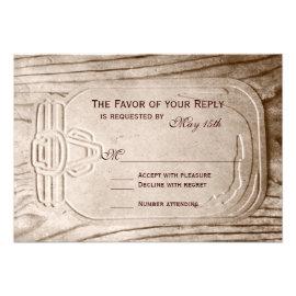 Country Mason Jar Rustic Wood Wedding RSVP Cards