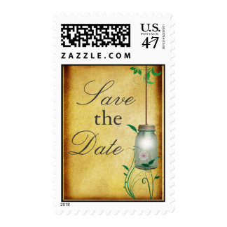 Country Mason Jar - Save the Date! Postage